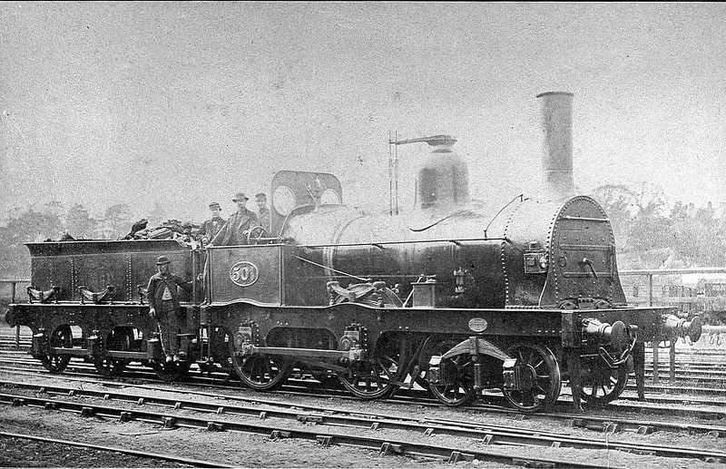 501 - Fletcher NER Class 675 2-4-0 - built 1873 by Gateshead Works - 1885 to NER No.810, 1890 to Duplicate List as No.1810 - 1894 withdrawn.
