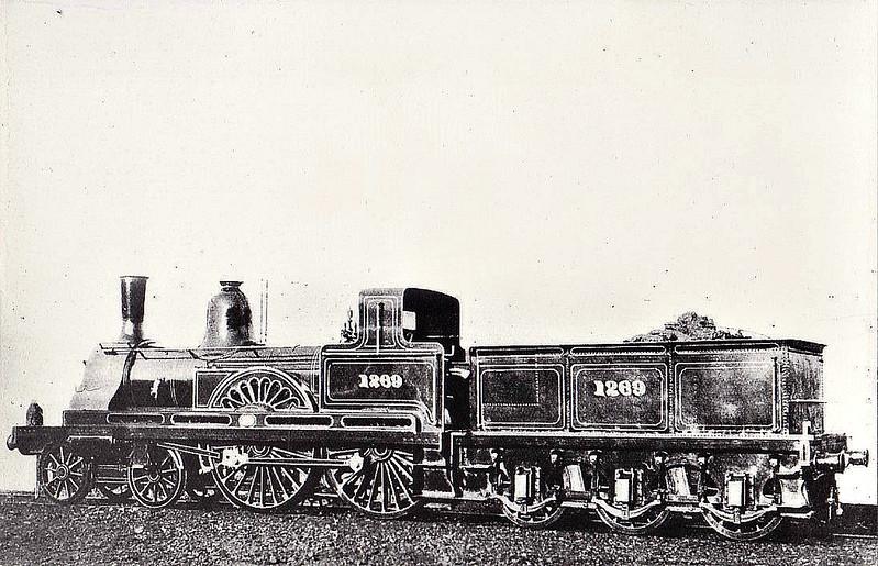 1269 - Fletcher 1265 Class 4-4-0 - built 1874 by Darlington Works - later rebuilt as 2-4-0 - 1914 withdrawn.