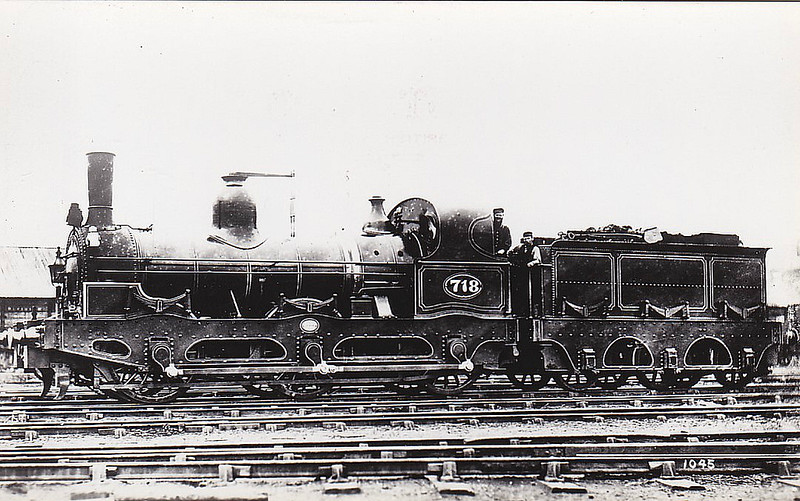 718 - Fletcher NER Class 706 0-6-0 - built 1870 by Robert Stephenson & Co. - 1911 withdrawn.