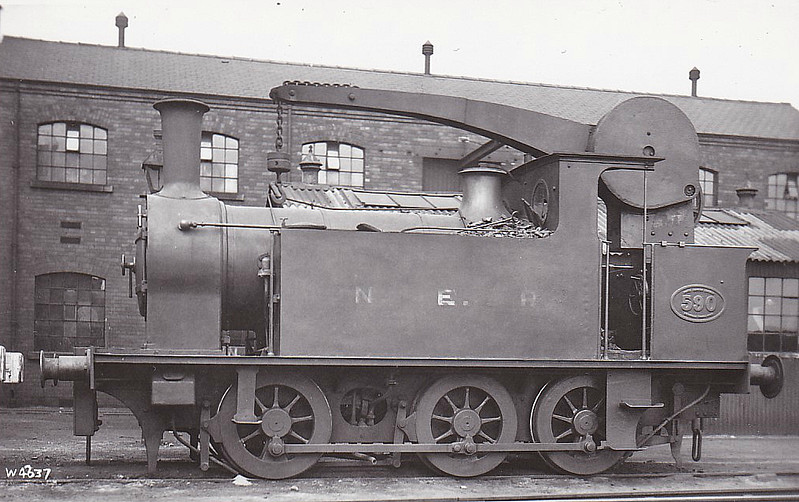 590 - Worsdell NER Class H1 LNER Class J78 0-6-0CT - built 1888 by Gateshead Works for use with the Works - 05/37 withdrawn from York North MPD as depot pilot - seen here at York in 1922.