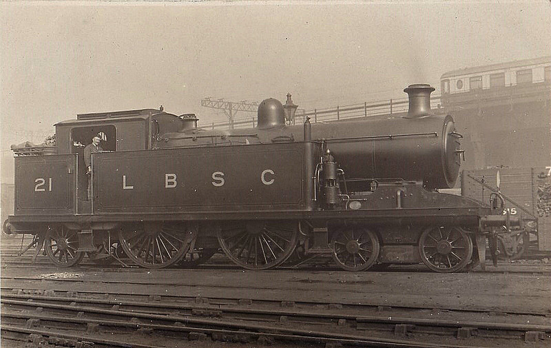21 - Marsh Class I3 4-4-2T - built 10/07 by Brighton Works - 1931 to SR No.2021, 1949 to BR No.32021 - 10/51 withdrawn from 75E Three Bridges.