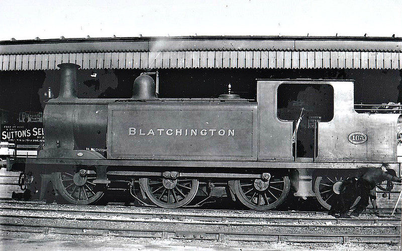 165 BLATCHINTON - Billinton Class E3 0-6-2T - built 11/1894 by Brighton Works - 1931 to SR No.2135, 07/48 to BR No.32165 - 11/59 withdrawn from 75C Norwood Junction.