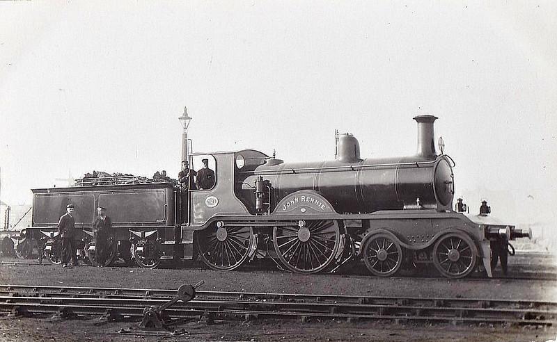 321 JOHN RENNIE - Billinton LBSCR Class B2 4-4-0 - built 09/1896 by Brighton Works - 10/07 rebuilt to Class B2X - SR No.2321 not applied - 09/30 withdrawn.