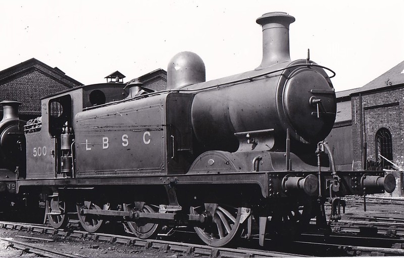 500 - Billinton LBSCR Class E4 0-6-2T - built 06/00 by Brighton Works as LBSCR No.500 PUTTENHAM - 1931 to SR No.2500, 05/50 to BR No.32500 - 01/62 withdrawn from 70A Nine Elms.
