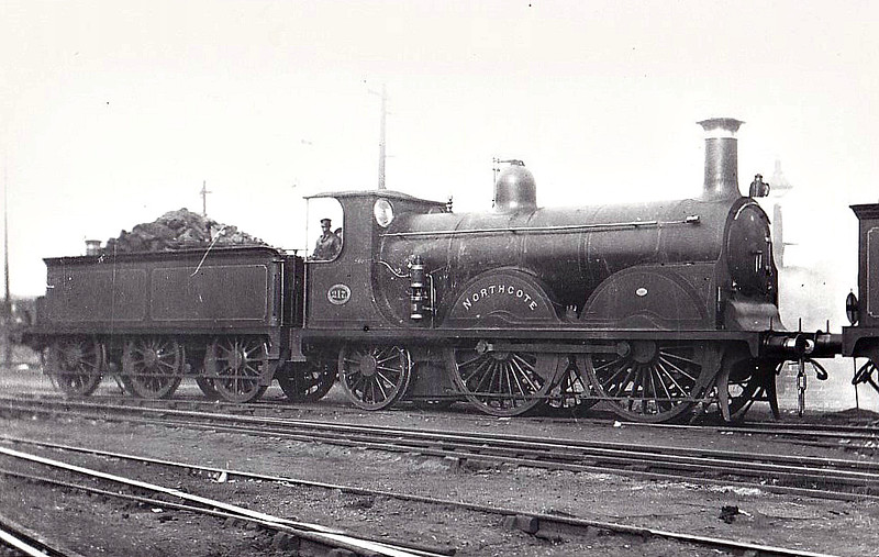 217 NORTHCOTE - Stroudley LBSCR Class B 0-4-2 - built 02/1884 by Brighton Works - 1906 name removed - 09/20 to LBSCR No.620 - 06/27 withdrawn - seen here at New Cross Gate, 09/02.
