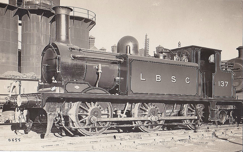 137 DIJON - Stroudley LBSCR Class E1 0-6-0T - built 01/1879 by Brighton Works - 1906 name removed - 02/33 withdrawn.