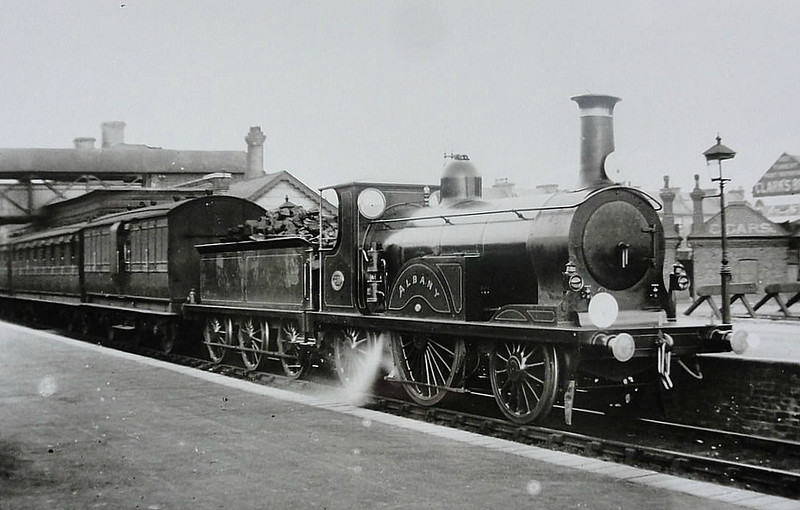 349 ALBANY -  Stroudley LBSCR Class G 2-2-2 - built 02/1882 by Brighton Works - 03/10 withdrawn.