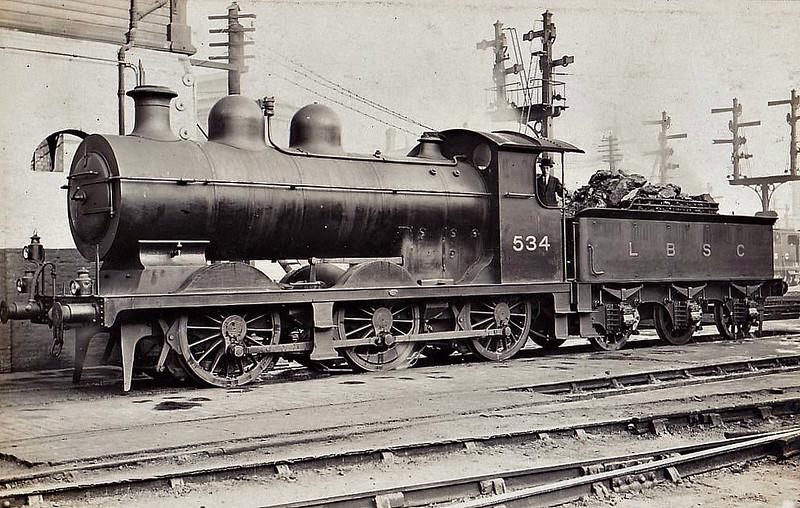 534 - RJ Billinton Class C2 0-6-0 - built 10/00 by Vulcan Foundry - 05/11 rebuilt as Class C2X, 1931 to SR No.2534, 06/49 to BR No.32534 - 10/61 withdrawn from 75E Three Bridges - seen here as Class C2X.