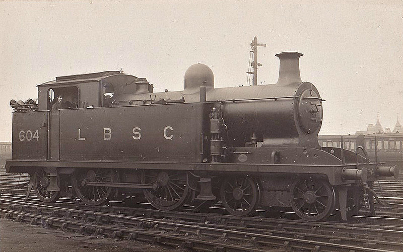 604 - Marsh LBSCR Class I1 4-4-2T - built 04/07 by Brighton Works - 08/27 rebuilt as Class I1X - 1931 to SR No.2604 - BR No.32604 not applied - 09/48 withdrawn from 75E Three Bridges.