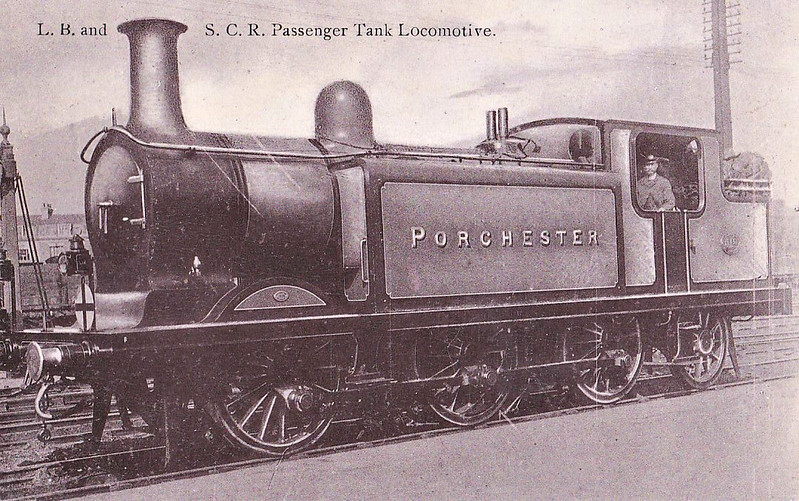 518 PORCHESTER - Billinton LBSCR Class E4 0-6-2T - built 06/01 by Brighton Works - 1931 to SR No.2518, 04/49 to BR No.32518 - 06/55 withdrawn from 75A Brighton.