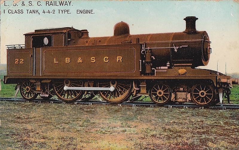 22 - Marsh Class I3 4-4-2T - built 03/08 by Brighton Works - 1931 to SR No.2022, 01/49 to BR No.32022 - 05/51 withdrawn from 75F Tunbridge Wells West.