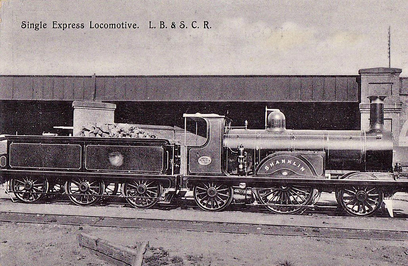 332 SHANKLIN - Stroudley Class G 2-2-2 - built 07/1881 by Brighton Works - 03/10 withdrawn.