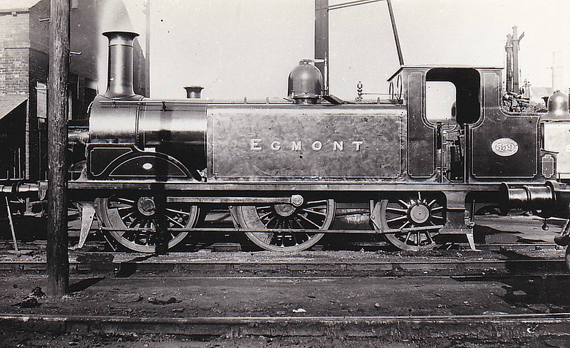 359 EGMONT - Stroudley LBSCR Class D1 0-4-2T - built 12/1886 by Brighton Works - 1906 name removed, 1931 to SR No.2359 - BR No.32359 not applied - 07/51 withdrawn from 74C Dover Marine.