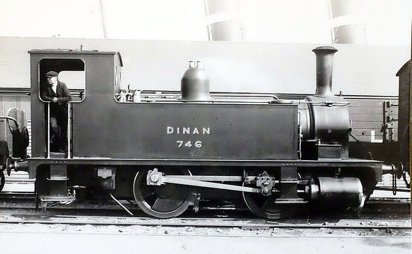 746 DINAN - Adams LSWR 0-4-0T - built 10/1892 by Nine Elms Works as LSWR No.746 - 1922 to LSWR No.101, 1948 to BR No.30101 (not applied) - 11/48 withdrawn from 71A Eastleigh.