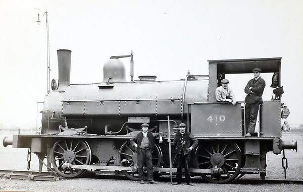 410 - Beattie SLWR Class 330 0-6-0ST - built 1882 by Beyer Peacock & Co., Works No.2132 - 1906 to LSWR Duplicate List as No.0410 - 1923 to SR - 1930 withdrawn - seen here at Nine Elms in April 1920.