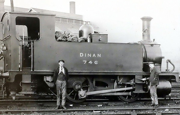 746 DINAN - Adams LSWR 0-4-0T - built 10/1892 by Nine Elms Works as LSWR No.746 - 1922 to LSWR No.101, 1948 to BR No.30101 (not applied) - 11/48 withdrawn from 71A Eastleigh - seen here at Southampton Docks in 1908.