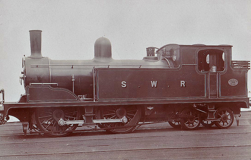 366 - Adams LSWR Class T1 0-4-4T - built 08/1896 by Nine Elms Works as LSWR No.366 - BR No.30366 not applied - 10/48 withdrawn from 71A Eastleigh.