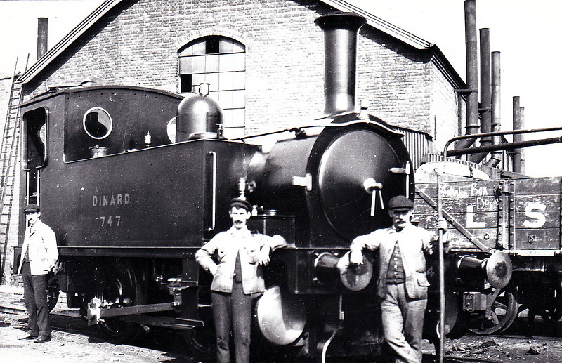 747 DINARD - Adams LSWR Class B4 0-4-0T - built 10/1884 by Nine Elms Works - 1922 to LSWR No.147 - 1923 to SR as No.E147 - 1948 to BR No.30147 (not applied) - 02/49 withdrawn from 71I Southampton Docks, where seen.