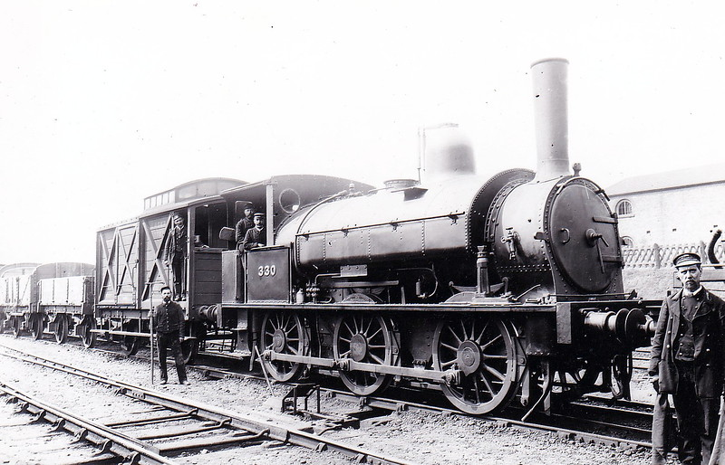 330 - Beattie LSWR Class 0330 0-6-0ST - built 1876 by Beyer Peacock & Co., Works No.1591 - 1905 to LSWR Duplicate List as No.0330 - 1923 to SR as No.0330 - 1924 withdrawn.