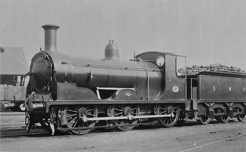 687 - Drummond LSWR Class 700 0-6-0 - built 03/1897 by Dubs & Co. - 08/48 to BR No.30687 - 09/60 withdrawn from 70B Feltham.