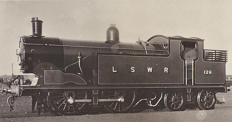 126 - Drummond Class M7 0-4-4T - built 09/11 by Eastleigh Works - 1948 to BR No.30126 - 11/63 withdrawn.