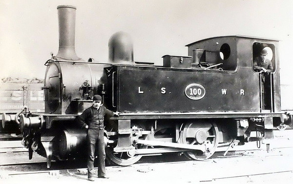 100 - Adams LSWR 0-4-0T - built 12/1893 by Nine Elms Works - 1948 to BR No.30100 (not applied) - 02/49 withdrawn from 72D Bournemouth.