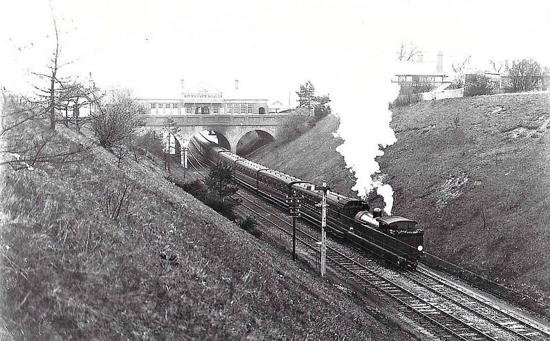 193 - Adams LSWR Class O2 0-4-4T - built 11/1890 by Nine Elms Works - 06/48 to BR No.30193 - 04/62 withdrawn from 75C Norwood Junction - seen here departing Tadworth.
