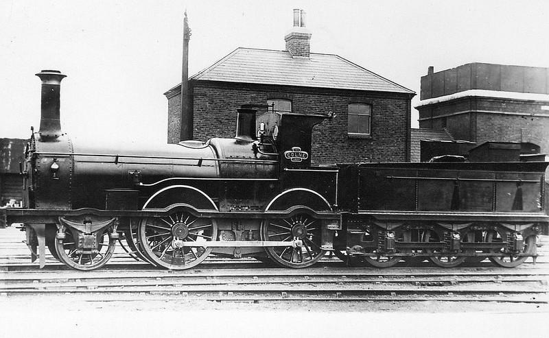 148 COLNE - Beattie LSWR Tweed Class 2-4-0 - built 1858 by Nine Elms Works - 1878 withdrawn.