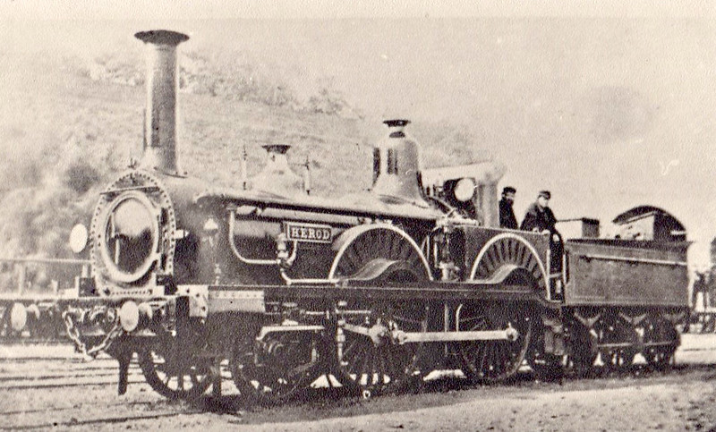 HEROD - Beattie LSWR 'Falcon' Class 2-4-0 - built 1865 by Nine Elms Works - 1890 withdrawn.