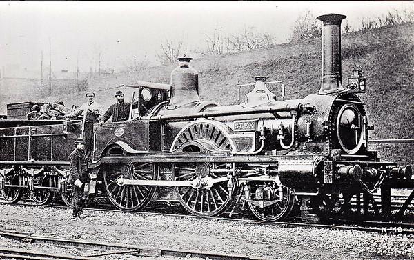 84 STYX - Beattie LSWR Falcon Class 2-4-0 - built 1866 by Nine Elms Works - 1897 withdrawn.