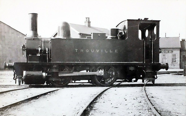 89 TROUVILLE - Adams LSWR 0-4-0T - built 10/1892 by Nine Elms Works - 01/50 to BR No.30089 - 03/63 withdrawn from 70C Guildford - seen here at Nine Elms in 1892.