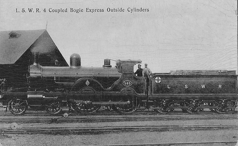 585 - Adams LSWR Class X2 4-4-0 - built 05/1891 by Nine elms Works - 09/31 withdrawn.