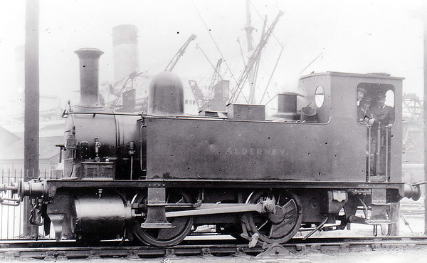 85 ALDERNEY - Adams LSWR Class B4 0-4-0T - built 10/1891 by Nine Elms Works - 1948 to BR No.30085 (not applied) - 02/49 withdrawn from 71I Southampton Docks, where seen.