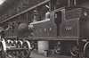 320 - Drummond LSWR Class M7 0-4-4T - built 08/00 by Nine Elms Works as LSWR No.320 - 05/48 to BR No.30320 - 02/63 withdrawn from 70A Nine Elms - seen here in Nine Elms Works with Adams Class T1 0-4-4T No.1.