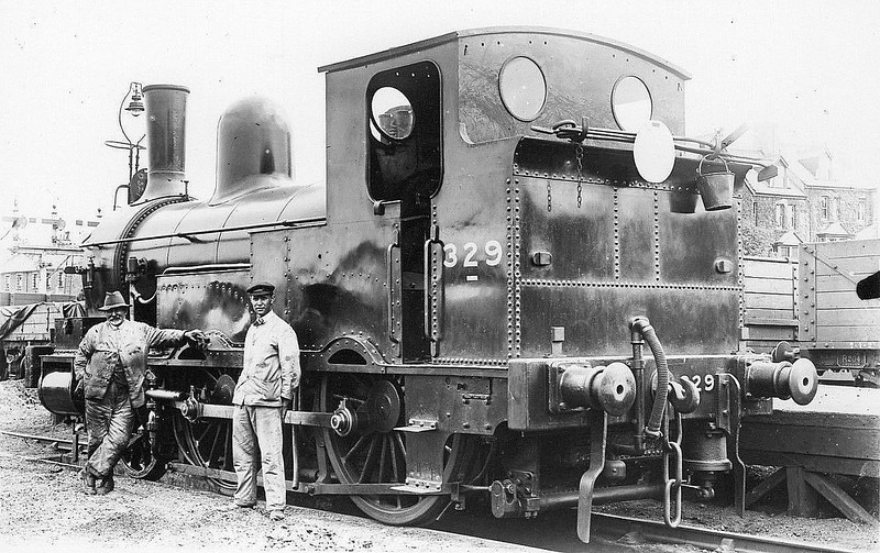 329 - Beattie LSWR Class 329 2-4-0WT - built 11/1875 by Beyer Peacock Ltd - 1901 to Duplicate List as No.0329, 1931 to SR No.3329, 05/48 to BR No.30586 - 12/62 withdrawn from 72F Wadebridge.
