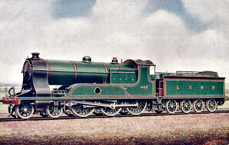 443 - Drummond LSWR Class T14 4-6-0 - built 03/11 by Eastleigh Works - 07/31 rebuilt by Maunsell - BR No.30443 not applied - 05/49 withdrawn from 70A Nine Elms.