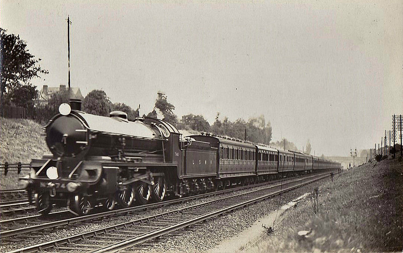 746 PENDRAGON - Urie LSWR/SR King Arthur Class 4-6-0 - built 06/22 by Eastleigh Works - 11/50 to BR No.30746 - 11/55 withdrawn from 71A Eastleigh - seen here in Clapham Cutting before nameplates were attached.