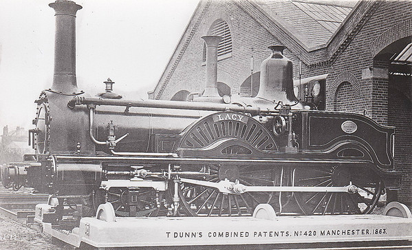 158 LACY - Beattie LSWR Clyde Class 2-4-0 - built 1859 by Nine Elms Works - 1884 withdrawn.