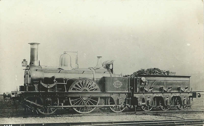 153 VICTORIA - J Beattie LSWR 'Canute' Class 2-2-2 - built 1859 by Nine Elms Works - 1884 withdrawn.
