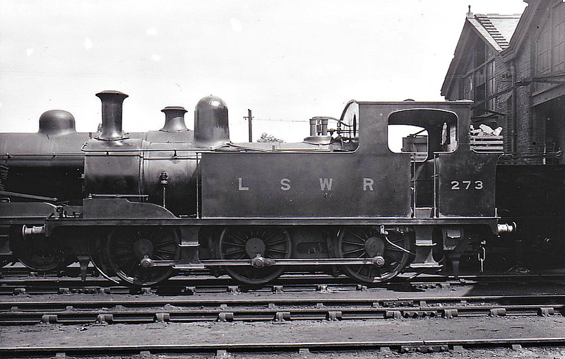 273 - Adams LSWR Class G6 0-6-0T - built 02/1898 by Nine Elms Works - 1923 to SR - BR No.30273 not applied - 03/49 withdrawn from 70A Nine Elms.