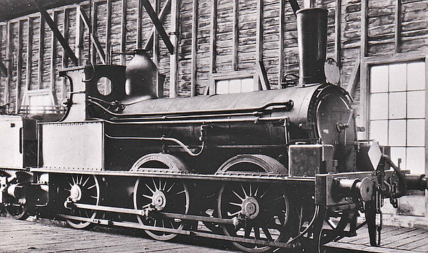 BEATTIE CLASS 272 'ILFRACOMBE GOODS' - 0-6-0 - three engines built 1873 by Beyer Peacock Ltd, based on a Swedish design, for the opening of the Ilfracombe Branch of the LSWR, which was lightly laid and steeply graded. So successful did they prove that 1874 saw an order for 5 more, a 6th the following year and 2 more in 1880 - unknown example seen here in more or less as built condition - 1888 the first 6 locos were rebuilt by Adams with new boilers, cabs and fitted with 6-wheel tenders. By the 1890's the Ilfracombe Goods reign in the West was coming to an end.  Their home lines were rebuilt to heavier standards and five including the two unrebuilt examples moved to London and Bournemouth. However they were becoming too small for duties in the 20th Century. Two were scrapped in 1905, the remainder being laid aside in 1909-1913. These 6 engines were all sold to Colonel Stephens between 1910 and 1918 for various of his railways, the last examples being withdrawn just before World War 2.
