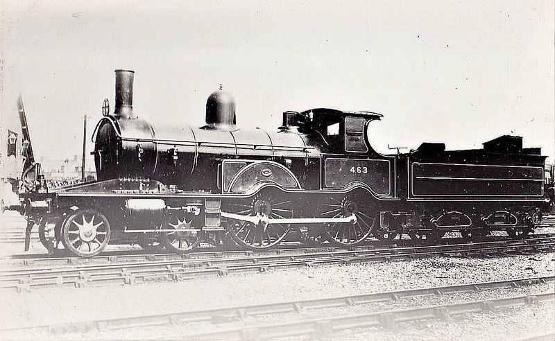 463 - Adams Class 460 4-4-0 - built 1884 by Neilson & Co. - to LSWR Duplicate List as No.0463 - withdrawn between 1924 and 1928.