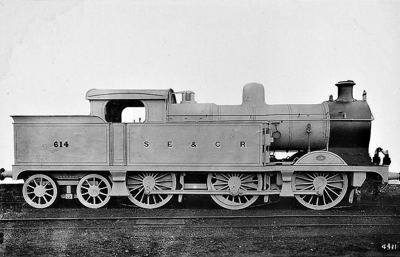 614 - Wainwright SECR Class J 0-6-4T - built 12/13 by Ashford Works - 1931 to SR No.1599, 08/48 to BR No.31599 - 10/49 withdrawn from 74A Ashford.