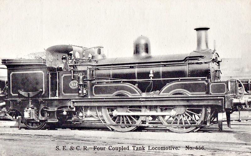 556 - Kirtley LCDR Class  D 'Large Scotchmen' Class 0-4-2WT - built 02/1873 by Neilson & Co. as LCDR No.97 ERIN - 1899 to SECR No.556 - 08/03 reboilered with domed boiler - 04/14 withdrawn - seen here after reboilering.