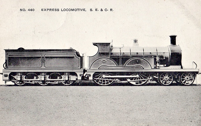 440 - Stirling SER Class B 4-4-0 - built 07/1898 by Neilson Reid & Co. - 1912 rebuilt to Class B1 -  1931 to SR No.1440 - BR No.31440 not applied - 11/48 withdrawn from 73E Faversham.