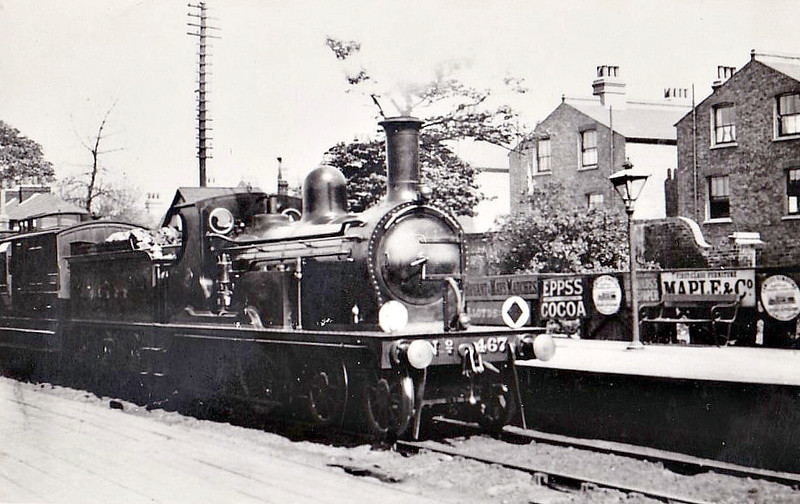 467 - Kirtley LCDR Class M3 4-4-0 - built 11/1899 at Longhedge Works as LCDR No.8 - 1899 to SECR No.467 - 08/27 withdrawn.