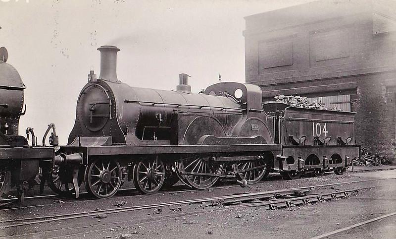 104 - Stirling SER Class F 4-4-0 - built 1885 by Ashford Works - 11/26 withdrawn.