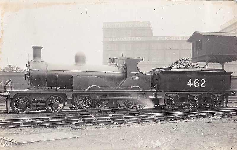 462 - Kirtley LCDR Class M3 4-4-0 - built 10/1897 by Longhedge Works as LCDR No.3 - 1899 to SECR No.462 - 03/26 withdrawn.
