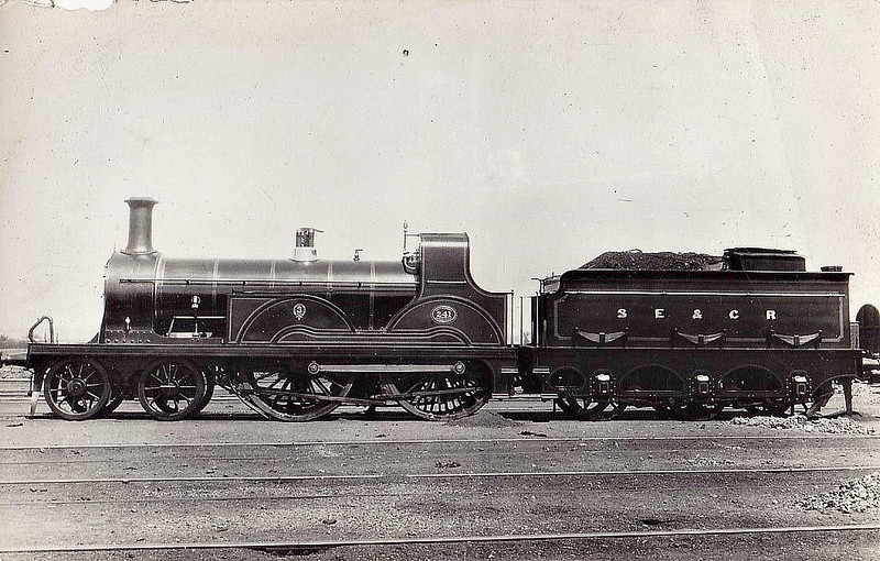 241 - Stirling SER Class F 4-4-0 - built 05/1890 by Ashford Works - 03/30 withdrawn.