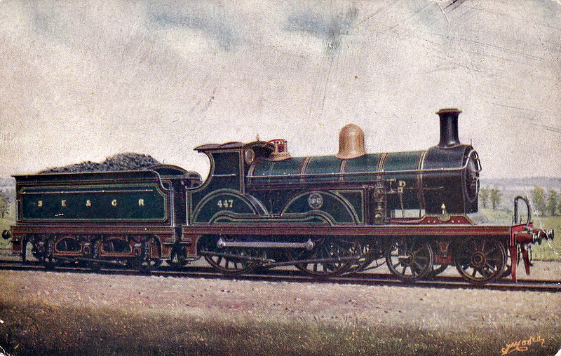 447 - Stirling SER Class B 4-4-0 - built 08/1898 by Neilson Reid & Co.  - 1911 rebuilt to Class B1 - 1931 to SR No.1447 - 08/33 withdrawn.